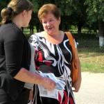 Вручение инфографики по ЖКХ жителям Белосельского СП
